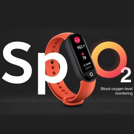 "Original Xiaomi Mi Band 6 Sport Wristband Heart Rate Fitness Tracker Miband 6 1.56 "" AMOLED Screen Smart Band 5 Color Bracelet 3"