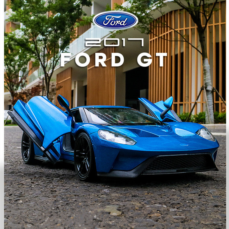 Welly 1:24 Ford GT  Car Alloy Car Model Simulation Car Decoration Collection Gift Toy Die Casting Model Boy Toy