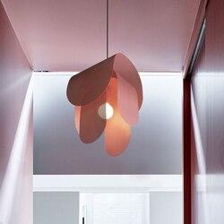 Po nowoczesny skandynawski w jodełkę nowoczesna lampa wisząca salon jadalnia ściemniania G9 żarówka lampy wiszące Led hanglamp w Wiszące lampki od Lampy i oświetlenie na
