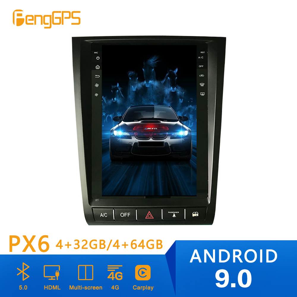 Tesla style Android 9 PX6 Car Radio Player GPS Navigation For <font><b>Lexus</b></font> GS300 GS350 <font><b>GS450h</b></font> 2004+ Car Auto Stereo HeadUnit DVD Player image