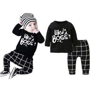 "Newborns ""Like A Boss"" Clothing Set 2 Pcs 1"