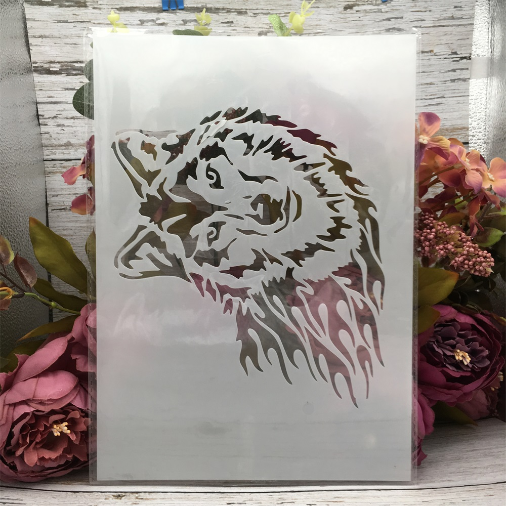 29*21cm A4 Wolf DIY Layering Stencils Wall Painting Scrapbook Coloring Embossing Album Decorative Template