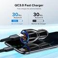 Автомобильное зарядное устройство с двумя портами USB для быстрой зарядки QC телефон зарядное устройство адаптер для IPhone 11 Pro Max 6 7 8 плюс Redmi ...