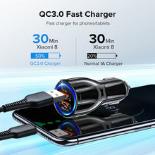 Car charger dual usb fast charging qc phone adapter for iphone