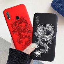 Coque de téléphone en TPU peinte de Dragon, étui Fundas en silicone pour Huawei Honor 8X, 9X, 8A, 8C, 8S, 9A, 9C, 9s, 7A, 7C Pro