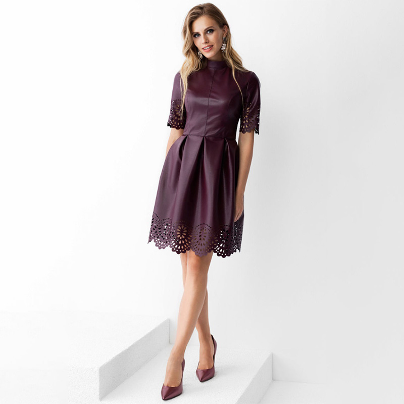 Summer Hollow Out Sexy a Line Party Dress Ladies Slim Elegant Short Sleeve 2020 Hot Sale Fashion Mini Dress Vestidos Casual