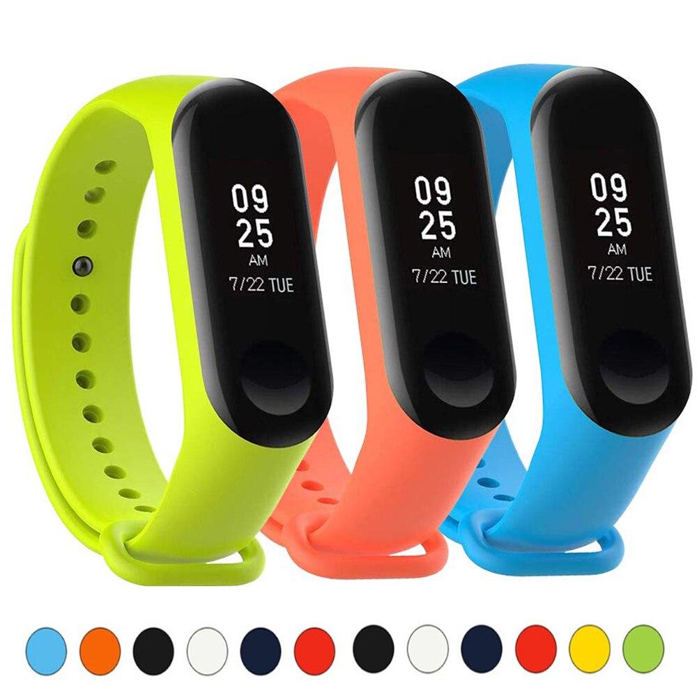 Strap For Xiaomi Mi Band 3 Bracelet Sport Silicone Wristband WatchBand Miband Band4 Wrist Strap For Xiaomi Mi Band 4 Bracelet