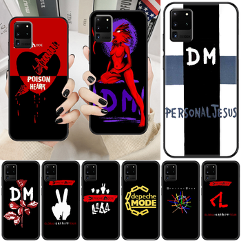 Depeches band Mode Phone case For Samsung Galaxy Note 4 8 9 10 20 S8 S9 S10 S10E S20 Plus UITRA Ultra black 3D waterproof trend image