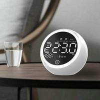 Digital alarm clock radio with Bluetooth speakers, red digital display with dimmer, FM radio, USB port bedside LED alarm clock.