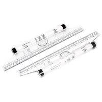 Kunst Zeichnung Werkzeug Quadrate Winkel Parallel Linie Roll Lineal 30 cm 2 stück