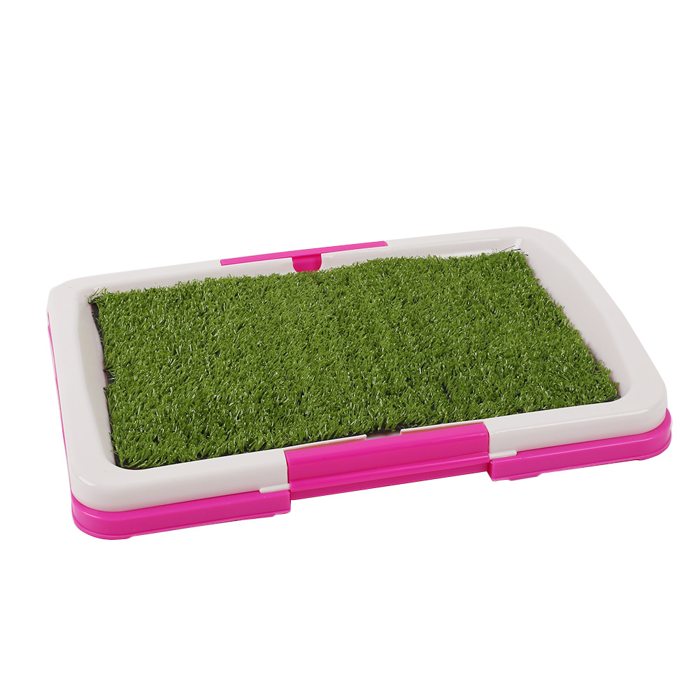 Pet Tray Grass Mat Trainer Potty Toilet Litter House Puppy Indoor Easy To Clean Urinary Pad Dog Pets Mats