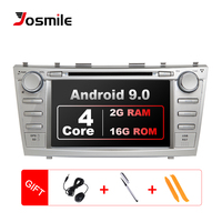 Josmile 8 autoradio 2 din Android 9.0 Car DVD Player For Toyota Camry 2007 2008 2009 2010 2011Auroin 2006 GPS Navigation OBD2
