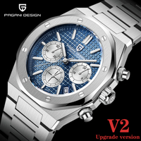 2021 nuovi orologi al quarzo sportivi da uomo PAGANI Design Top Brand zaffiro acciaio inossidabile 200m cronografo impermeabile Reloj Hombre