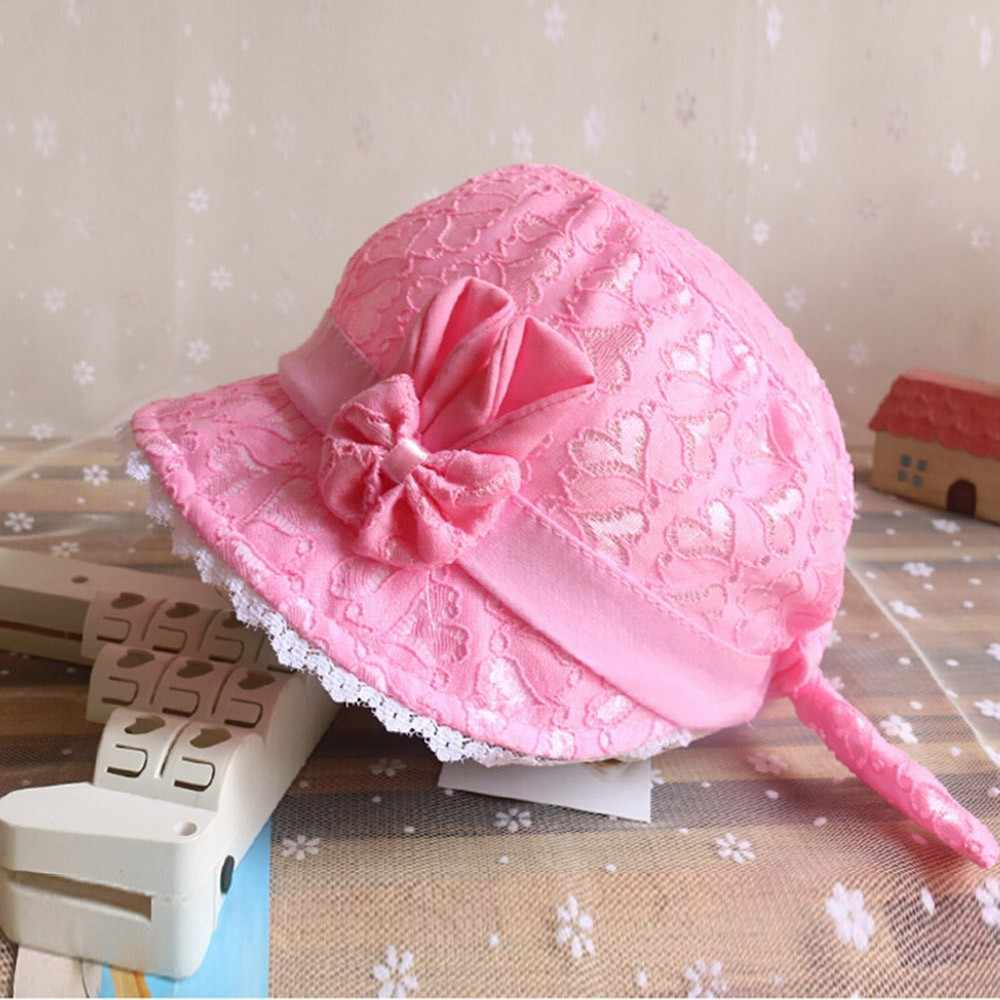 2021 Baby Toddler Girls Hat Summer Cartoon Bow Lace Cap Infant Baby Boy Girl 2018 Fashion Peach Heart Printing Cap cappelli da sole