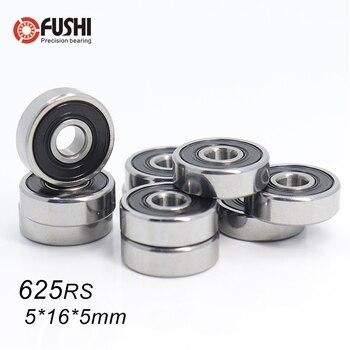 625RS Bearing ABEC-5 ( 10 PCS ) 5*16*5 mm Miniature Sealed 625-2RS Ball Bearings 625 2RS For VORON Mobius 2/3 3D Printer 10pcs high quality abec 5 mr117zz mr117 2rs smr117zz smr117 2rs 7 11 3 mm 7x11x3 mm miniature thin wall deep groove ball bearing