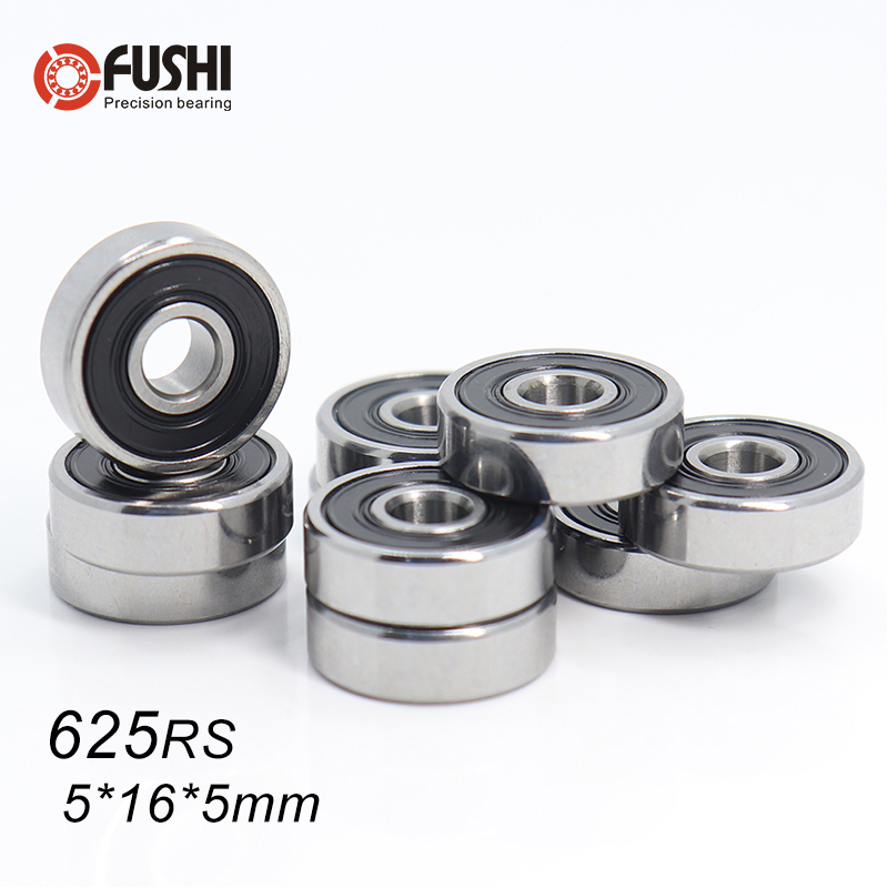 625RS Bearing ABEC-5 ( 10 PCS ) 5*16*5 mm Miniature Sealed 625-2RS Ball Bearings 625 2RS For VORON Mobius 2/3 3D Printer