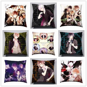 Anime Manga DIABOLIK LOVER  Pillow 40x40cm Pillow Case Cover Seat Bedding Cushion 003