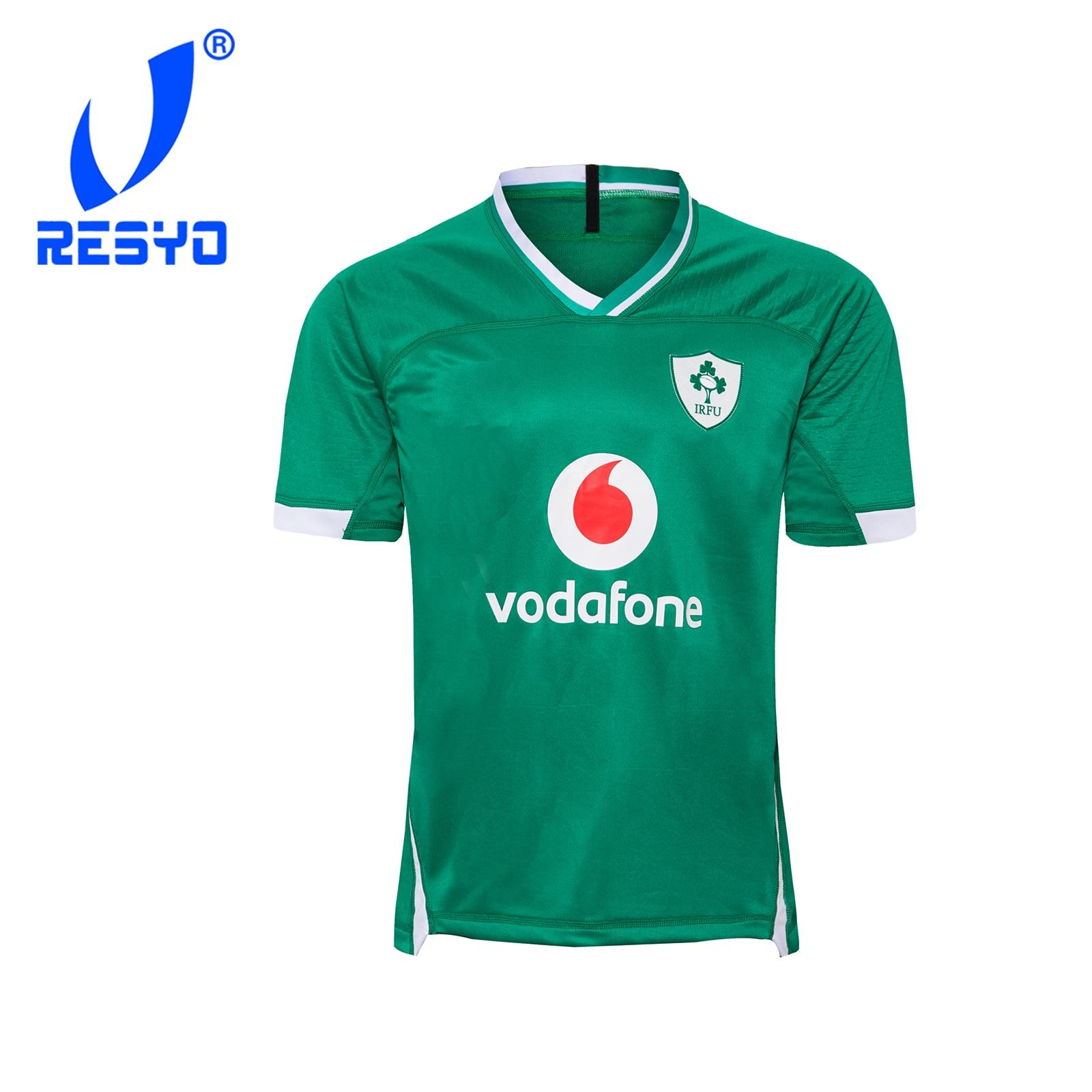 RESYO для 2020 IRELAND Home Мужская спортивная рубашка из Джерси для регби S-5XL