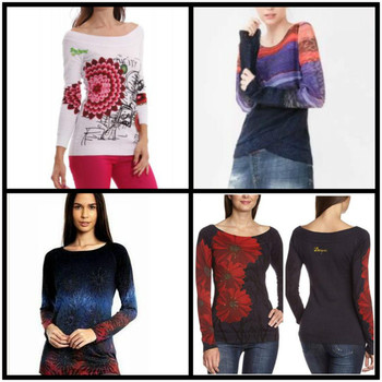 DESIGUAL 2019 Spanish Desigual spring and autumn thin medium and long knitted sweaters xs-xxl