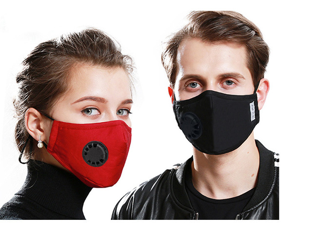 Face Mask Protection Face Mouth Masks PM2.5 Breathable Anti Dust Dustproof Anti-fog Breathing valve Washable