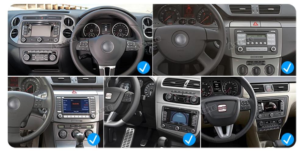 WIN CE VW 2 Din GPS DVD Golf Polo Passat B6 SEAT RDS DAB + 56