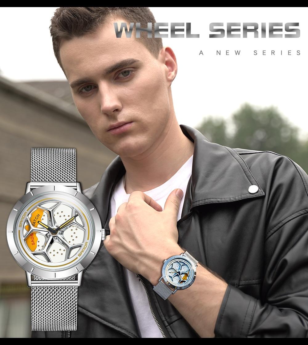 H498c53cf5c1c405b8228eb510c08db34I Men's Watch 360 Degree Wheel Rotation Creative Quartz