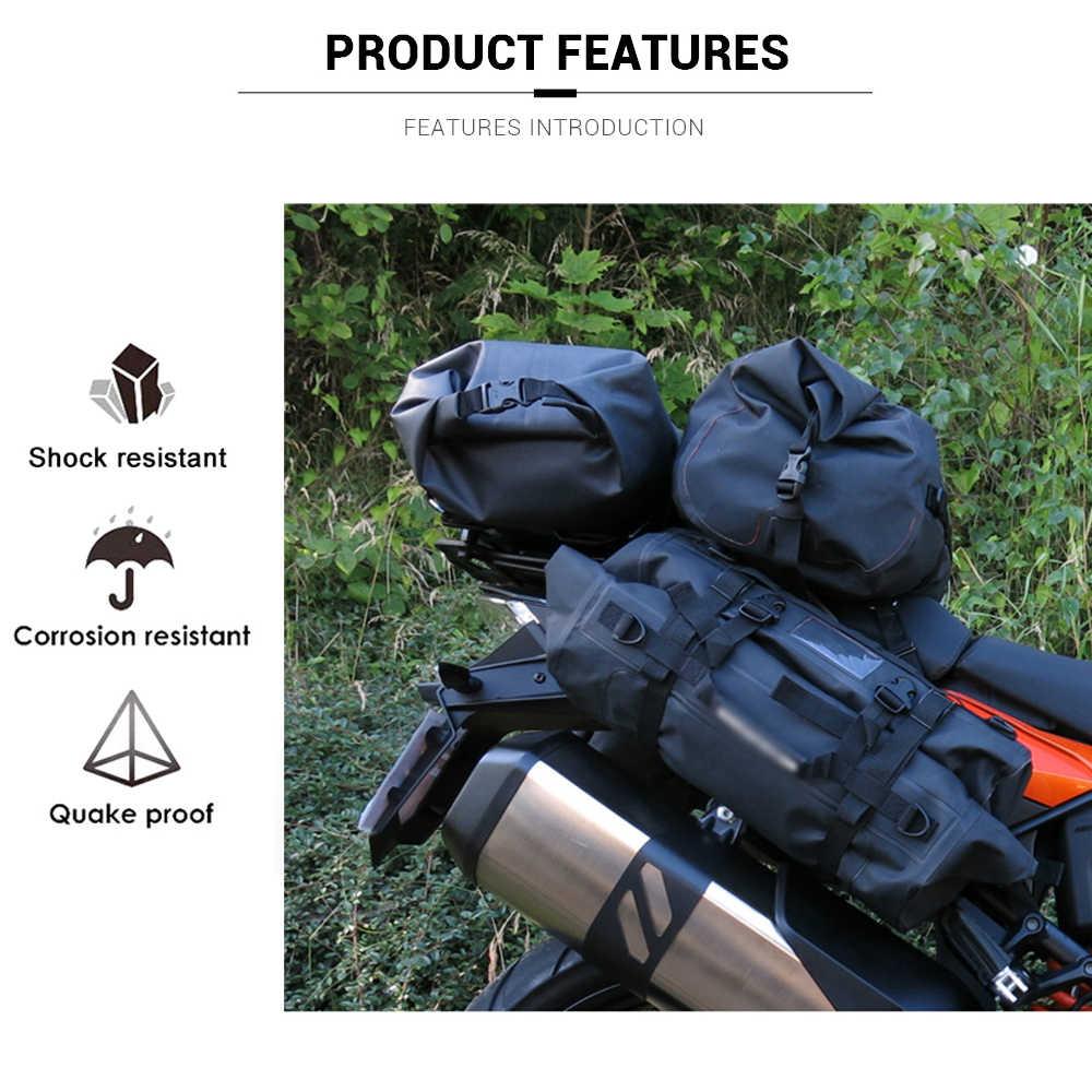 Saco da motocicleta ao ar livre pvc saco de saco seco impermeável 10l 20l 30l, ombro, saco, mergulho, natação, caminhadas dirigindo kits de viagem