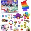 Christmas Advent Countdown Calendar Toy Set Silicone Sensory Decompression Tabletop Puzzle Decompression Toy For Child Gift