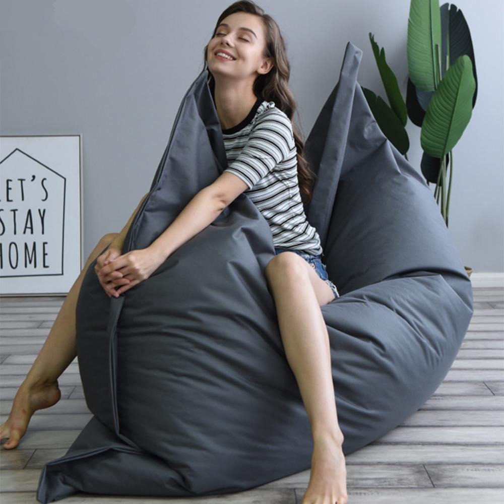 K-STAR Rectangle Bean Bag Double Sofa Chairs Lounger Seat Sofa Bed Tatami...