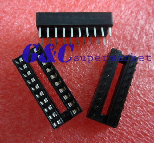 10PCS 20-Pin DIL DIP IC Socket PCB Mount Connector NEW GOOD QUALITY Diy Electronics