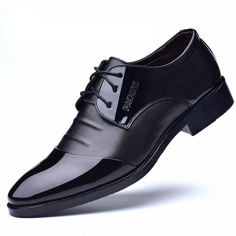 2020 Fashion Men Shoes Genuine Leather Men Dress Shoes Brand Luxury Men's Business Casual Classic Gentleman Shoes