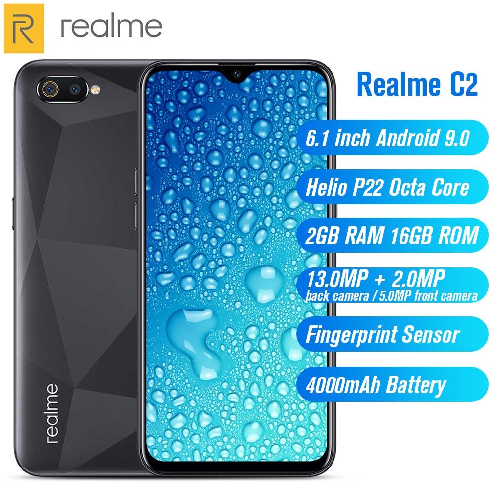 Купить Realme C2 4G смартфон 6,1 дюймов Android 9,0 Helio P22 Восьмиядерный 13.0MP + 2.0MP задняя камера 4000 мАч батарея мобильный телефон на Алиэкспресс