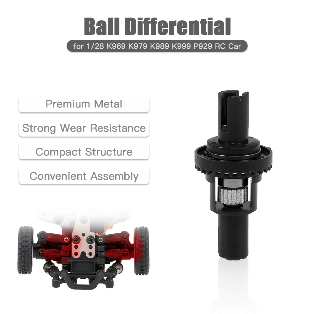 Adjustable Ball Differential <font><b>1/28</b></font> <font><b>RC</b></font> <font><b>Car</b></font> <font><b>Parts</b></font> Upgraded Ball Bearing Ball Joint Kit for WLtoys K989 <font><b>RC</b></font> <font><b>Car</b></font> image
