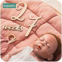 Cartes de commémoration mensuelle d'étapes de croissance du bébé,jalons en bois pour photo du nouveau-né, accessoires de photographie, 19 pièces par lot,