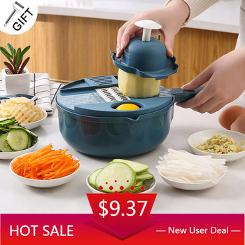 Multifunctional Vegetable Cutter Artifact Slicer Fruit Salad Carrot Peeler Grater Household Kitchen Accessory With Drain Basket