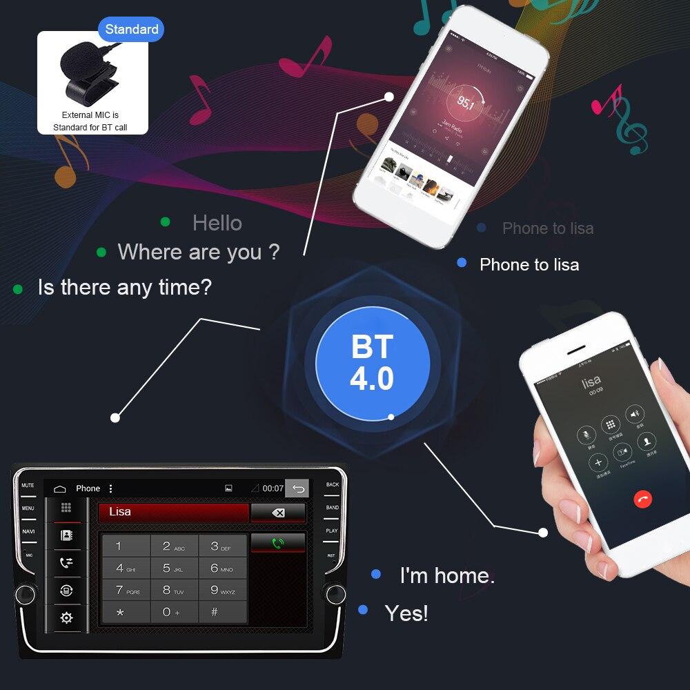 Eunavi Android 9.0 uniwersalne radio samochodowe 2 din samochód radio odtwarzacz multimedialny GPS nawigacja wifi Bluetooth 4G 64G ekran IPS nie DVD