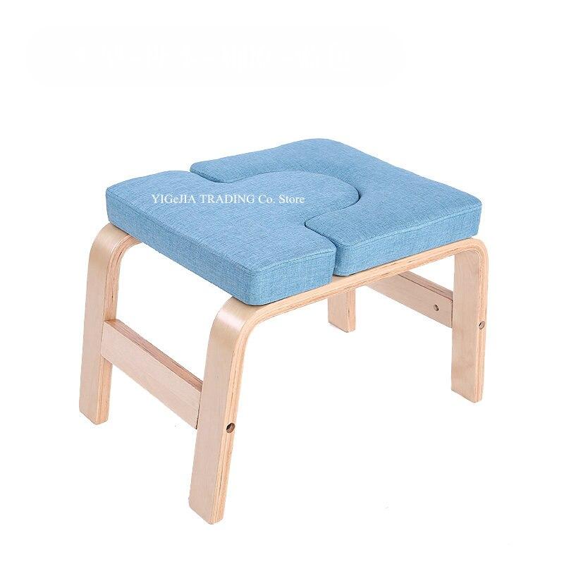 Banc de casque de Yoga, chaise d'inversion de Yoga en bois de bouleau massif pour la famille ou le gymnase, soulage la Fatigue et forme le corps