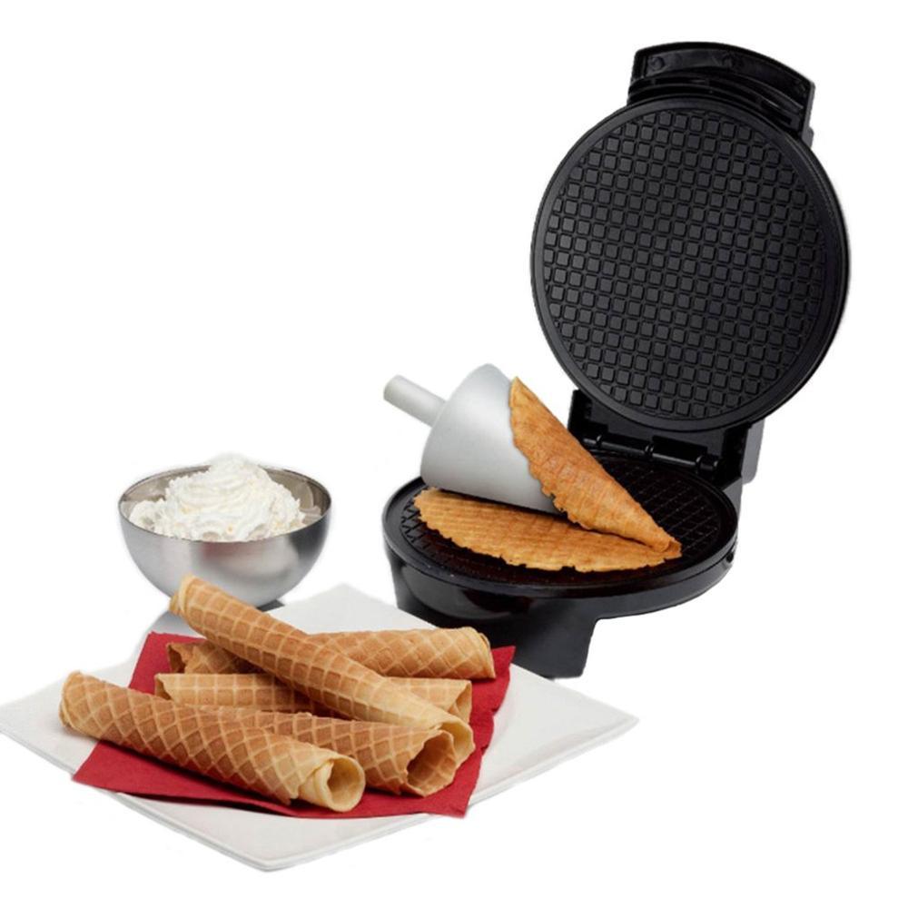 Máquina automática eléctrica para hacer Waffles, máquina eléctrica para hacer panqueques de Pizza, sándwich, máquina antiadherente, horno para tortas de huevo, máquina para el desayuno - 6
