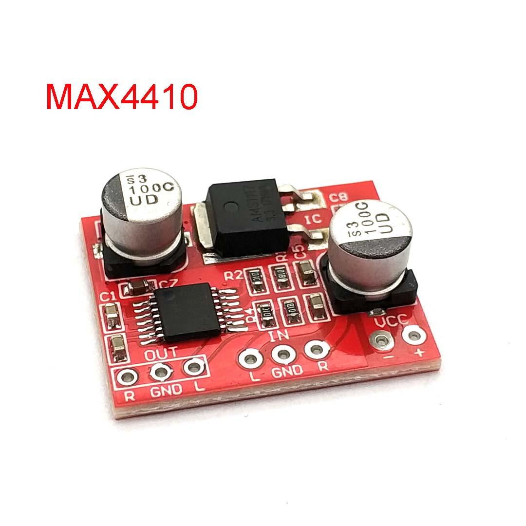 MAX4410 HIFI Headphone Amplification Audio Board Audio Preamplifier Board AMP DC3-12V