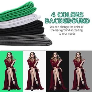 Image 5 - ZUOCHEN 4PCS 25W LED Photo Studio Softbox Soft Box Lighting 4 Backdrop + Background Support Stand Kit