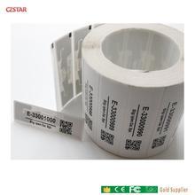 customized printed ID barcode iso18000-6c impinj smartrac dogbone tag monza r6 4D epc gen2 uhf rfid sticker