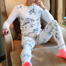 Brand cotton Men long johns blusa termica masculina heren wi