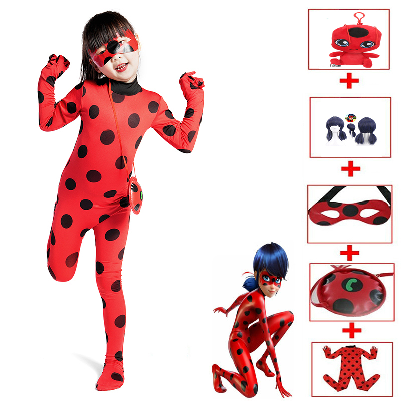 Anime Lady Bug Costume Disfraz Ladybug Costumes For Children Girls Party Cosplay Costumes Christmas Fancy Dress Gift