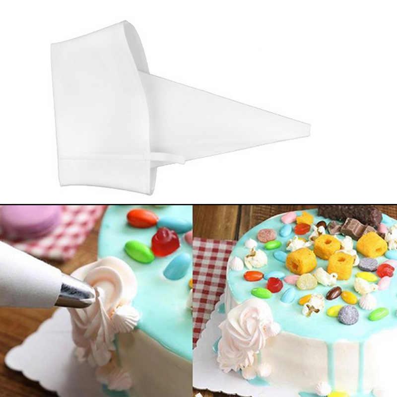 1pc 菓子バッグシリコーンアイシング配管クリームペストリーバッグノズル DIY ケーキデコレーションベーキングツールのためにケーキフォンダン