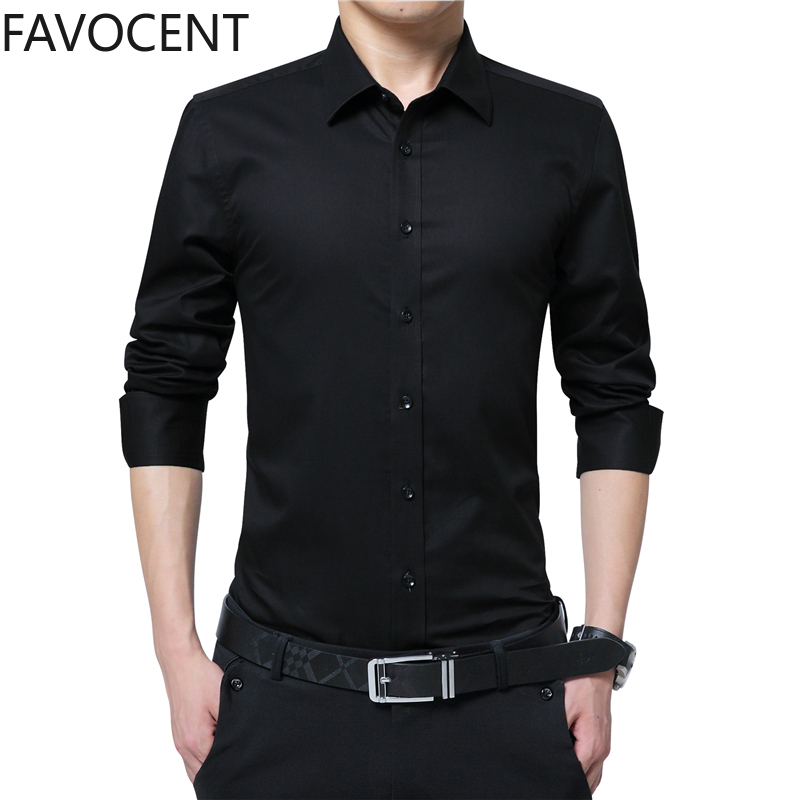 Multicolor Optional Men's Fashion Shirt Long Sleeve Business Social Solid Color Lapel Large Size Work Casual Base Dress Shirts