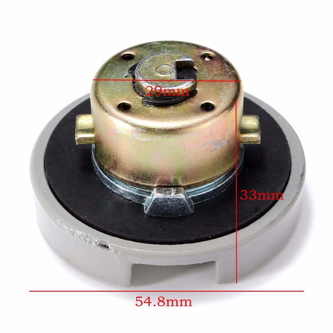 1SET Moto Gas Fuel Tank Cap Lock+Key High Quality Stainless Steel Shell/Alloy For Scooter GY6 4-Stroke 139QMB TAOTAO BAJA SUNL