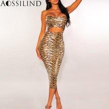 Женское облегающее платье миди aossilind длинное без бретелек