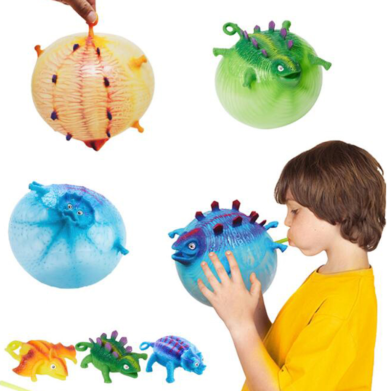 Dinosaur Toy Blowing Animal Balloon Ball Cool Stuff Stress Relief Novelty Toys Funny Gadgets For Kids Children Party Favors
