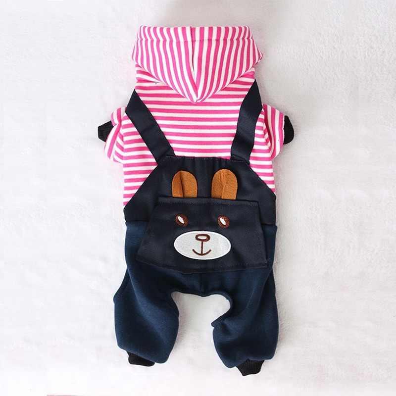 PUOUPUOU Moda A Righe Vestiti Del Cane Da Compagnia per I Cani Cappotto Felpa Con Cappuccio Inverno Ropa Perro Cane Vestiti Del Fumetto Animali Domestici Vestiti