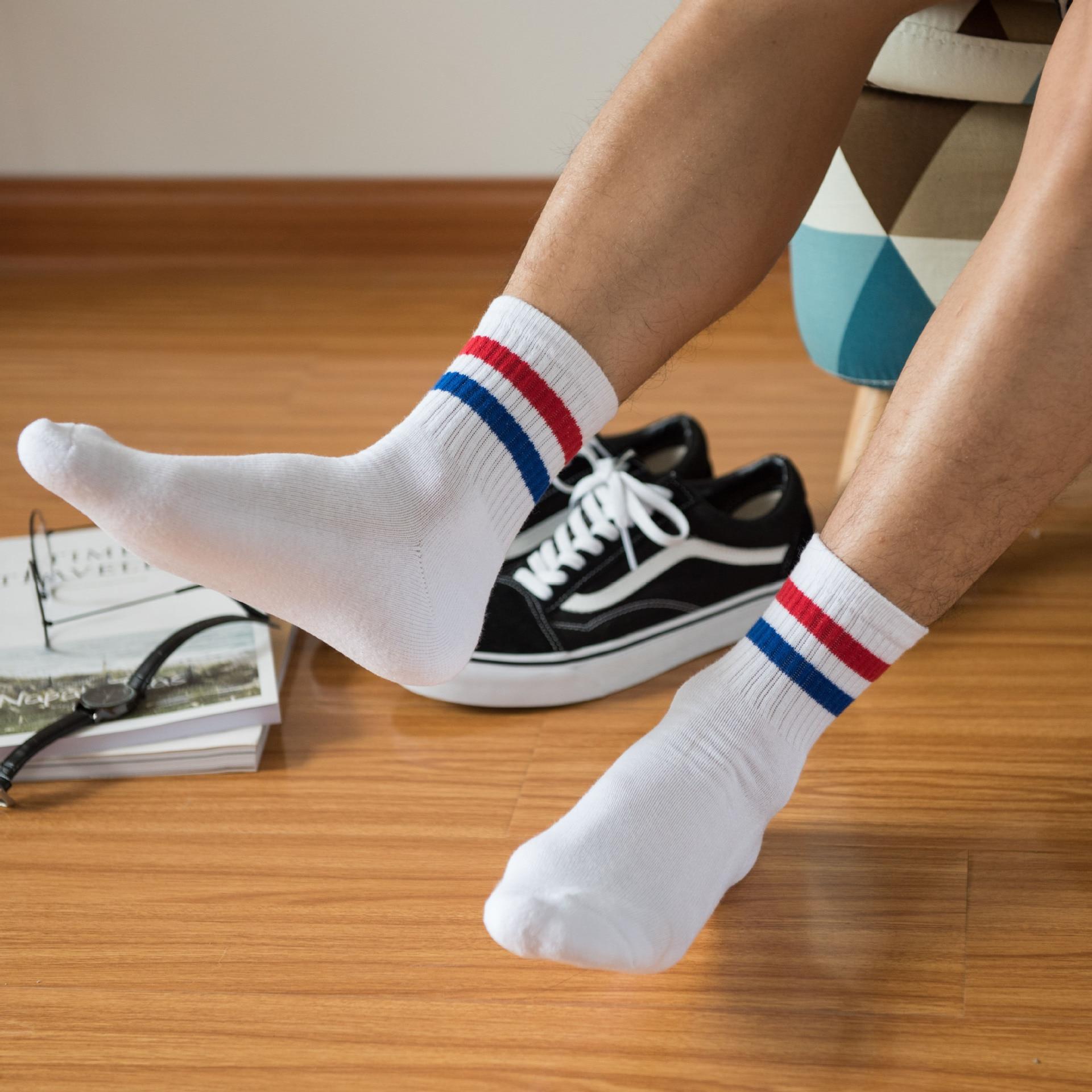 Socks Fashion Socks Vintage Short Sports Socks Solid Cotton Socks Casual Streetwear Short Socks For Man Girl Cool Tube Socks